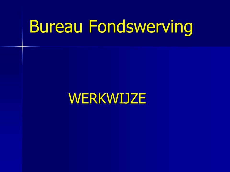 Bureau Fondswerving WERKWIJZE