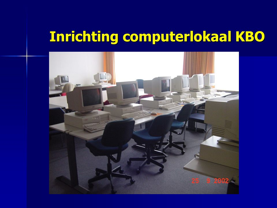 Inrichting computerlokaal KBO
