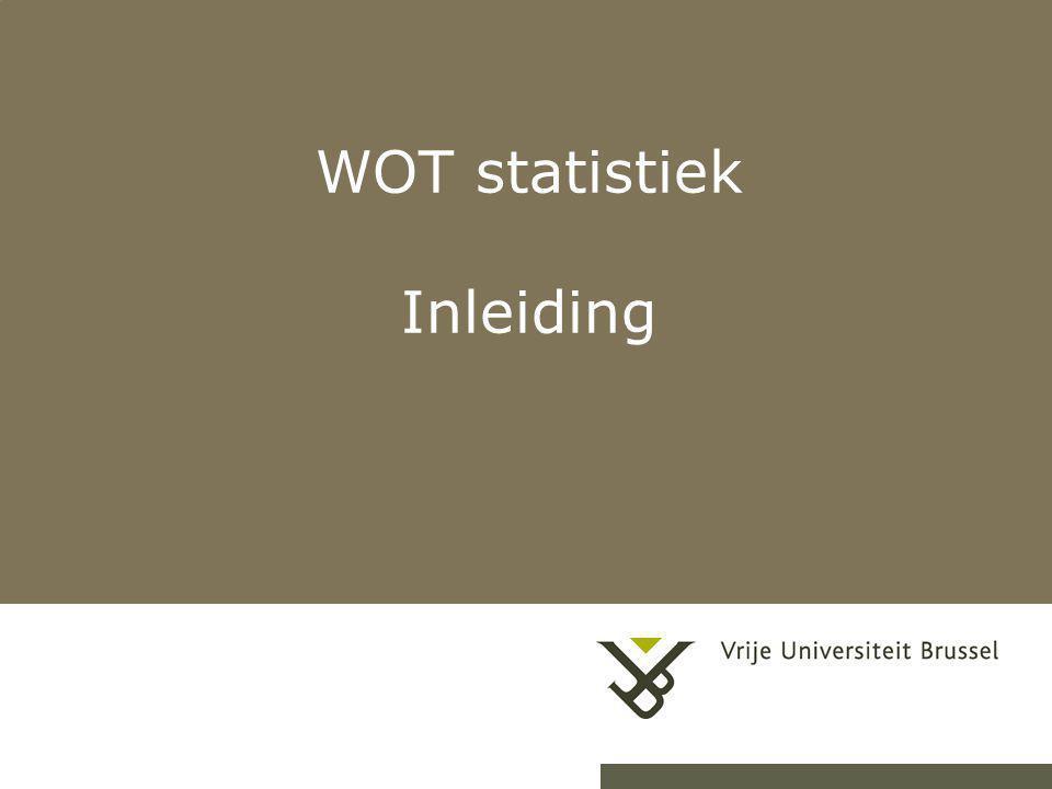 WOT statistiek Inleiding