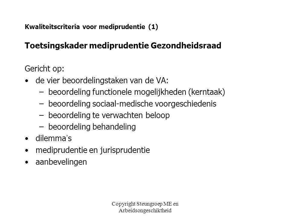Kwaliteitscriteria voor mediprudentie (1)