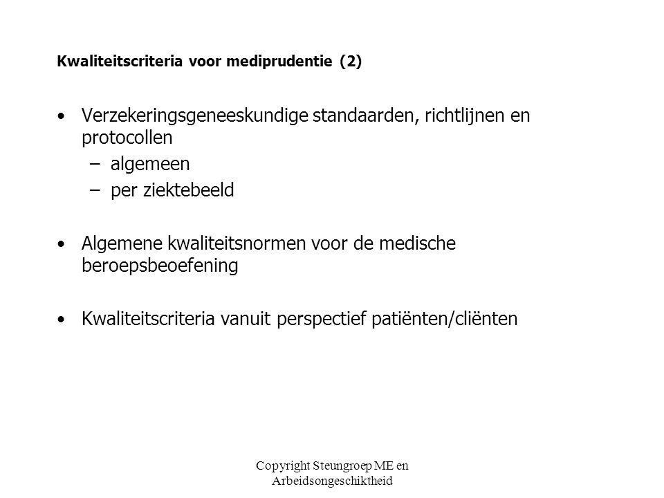 Kwaliteitscriteria voor mediprudentie (2)
