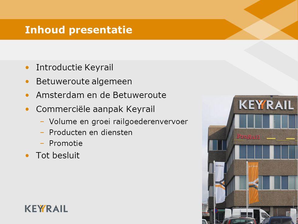 Inhoud presentatie Introductie Keyrail Betuweroute algemeen