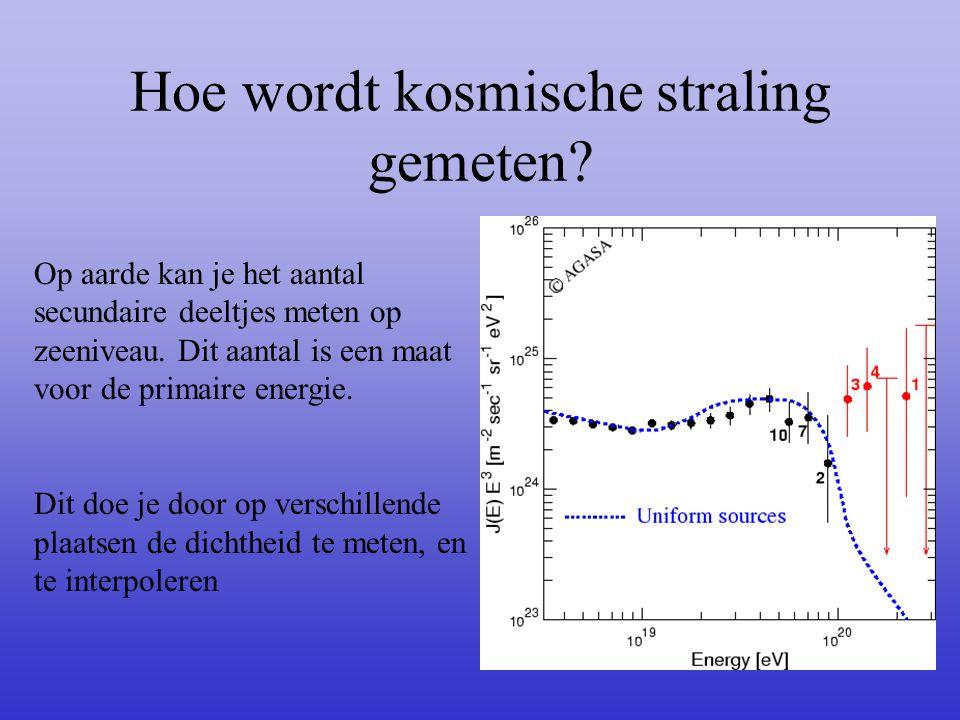 Hoe wordt kosmische straling gemeten