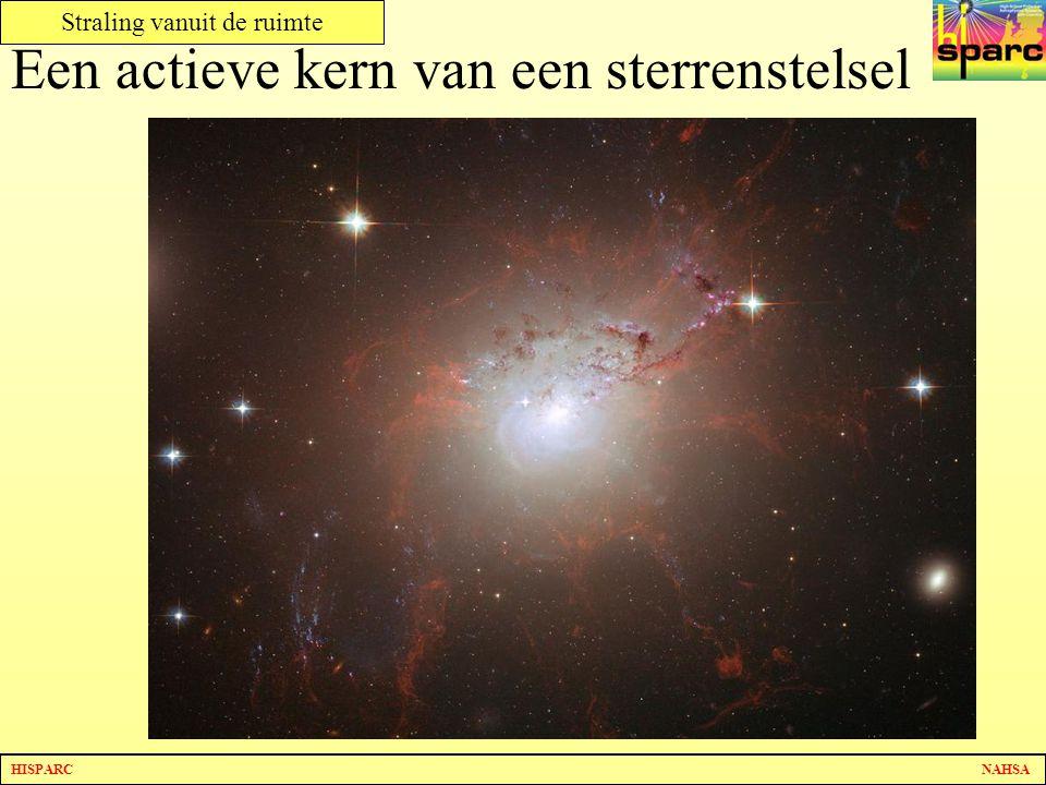 Een actieve kern van een sterrenstelsel