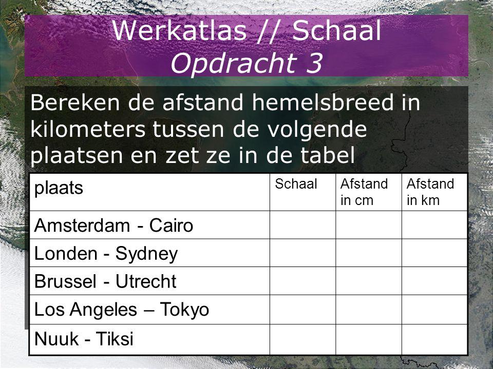 Werkatlas // Schaal Opdracht 3