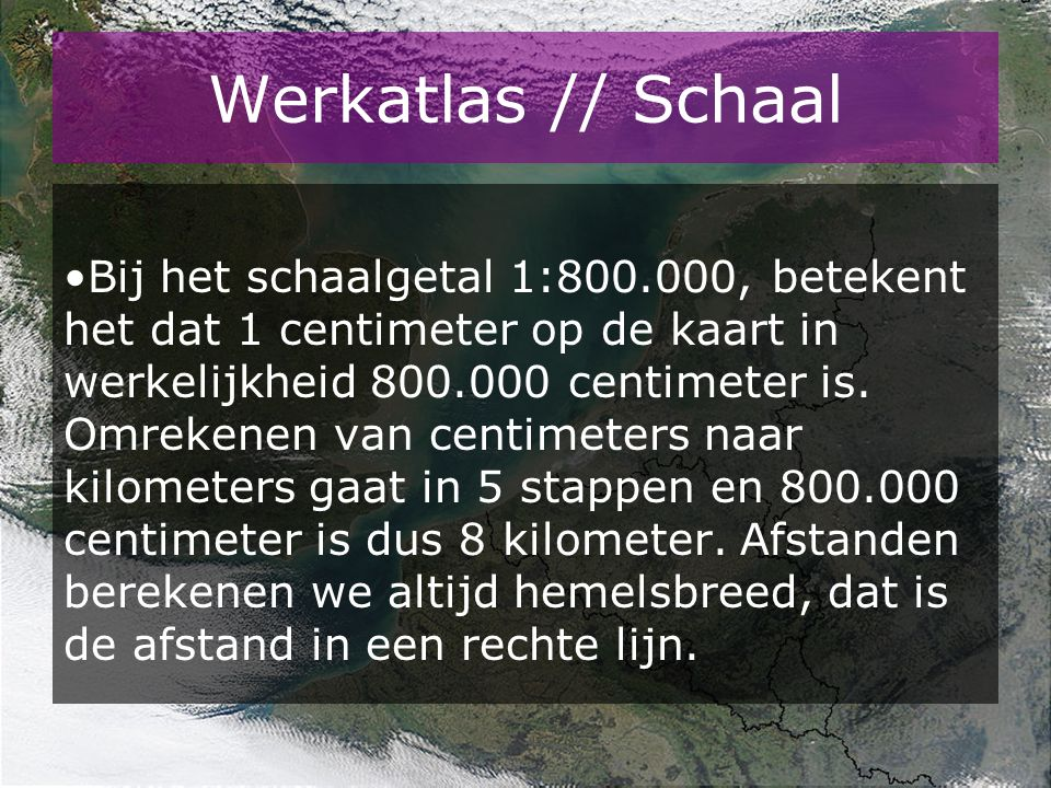 Werkatlas // Schaal