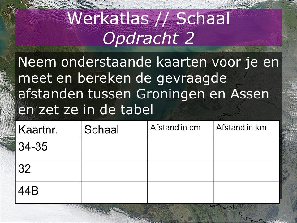 Werkatlas // Schaal Opdracht 2