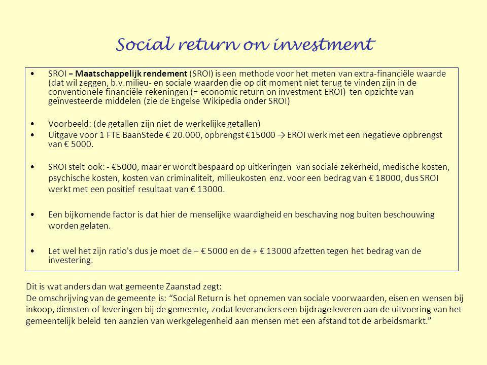 Social return on investment