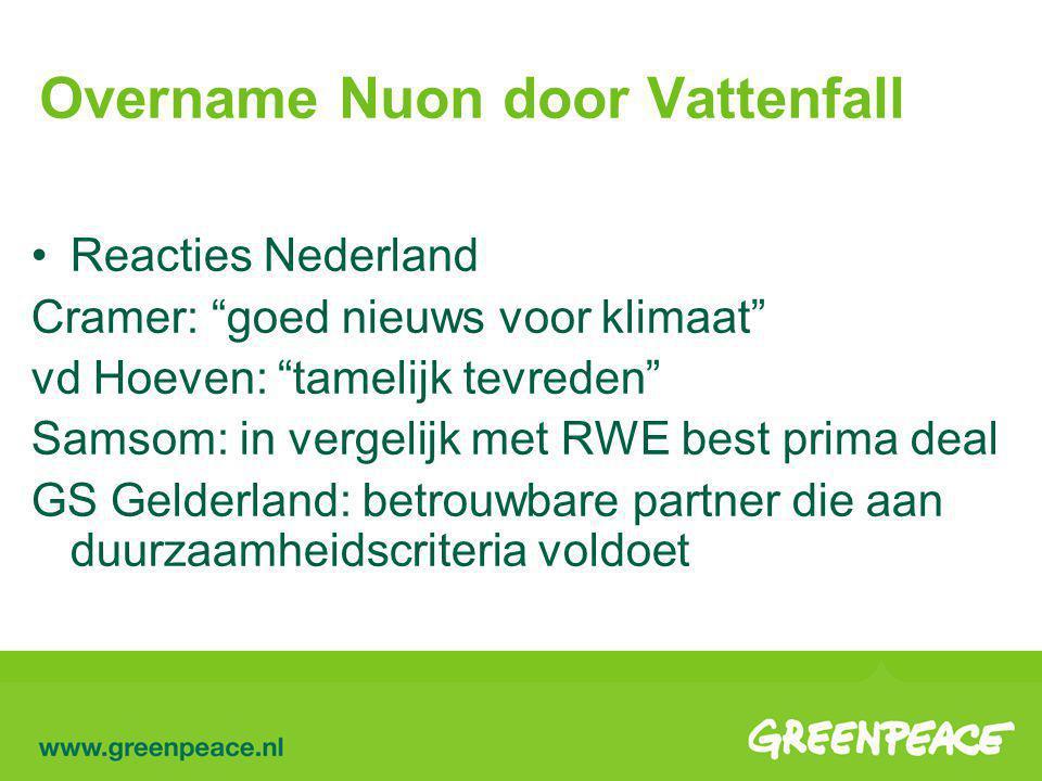 Overname Nuon door Vattenfall