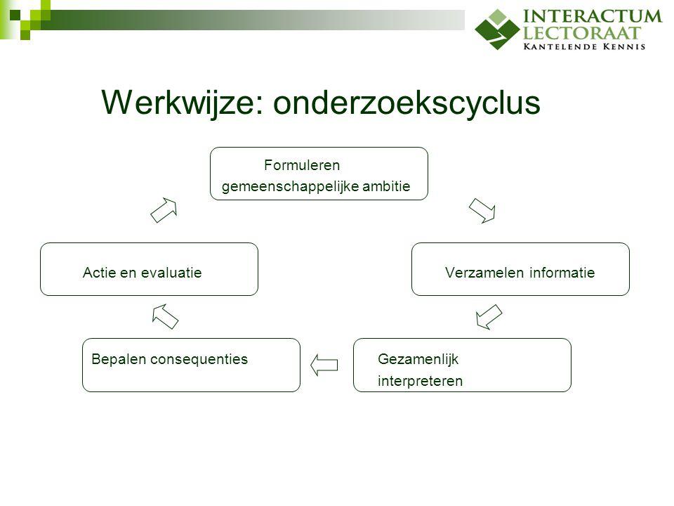 Werkwijze: onderzoekscyclus