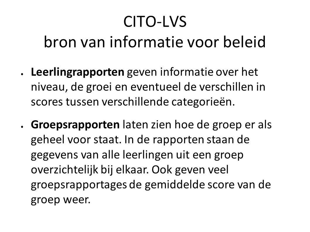 CITO-LVS bron van informatie voor beleid