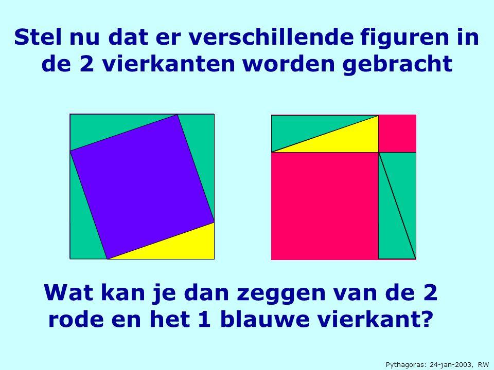 Wat kan je dan zeggen van de 2 rode en het 1 blauwe vierkant