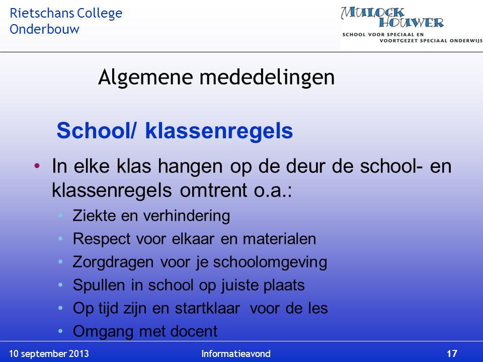 School/ klassenregels