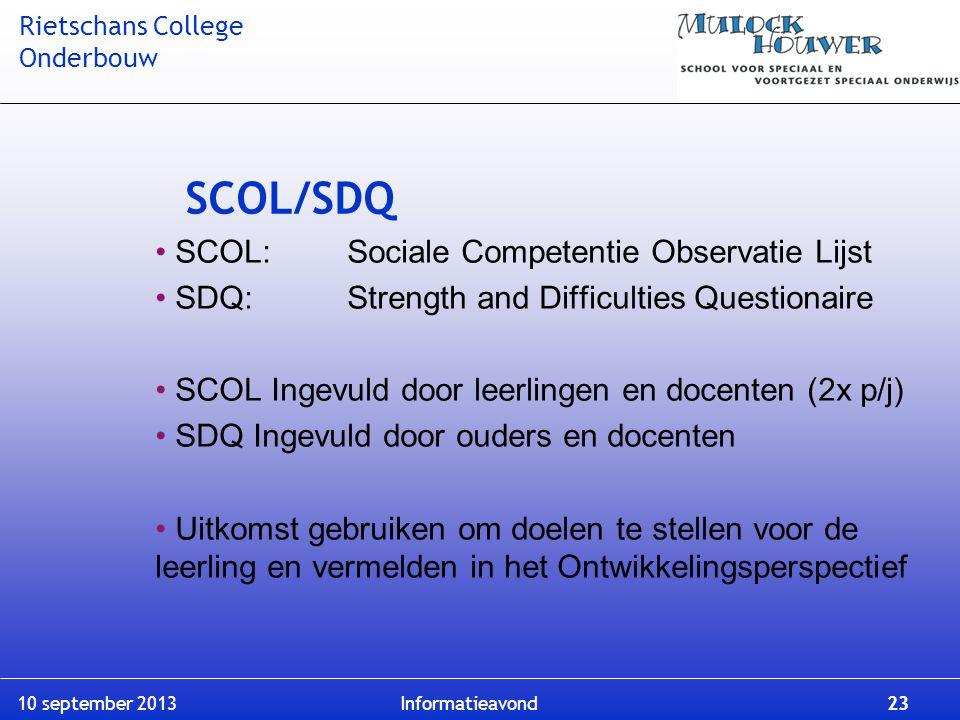 SCOL/SDQ SCOL: Sociale Competentie Observatie Lijst