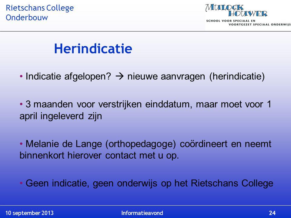 Herindicatie Indicatie afgelopen  nieuwe aanvragen (herindicatie)