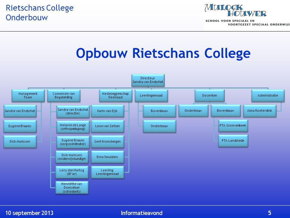 Opbouw Rietschans College