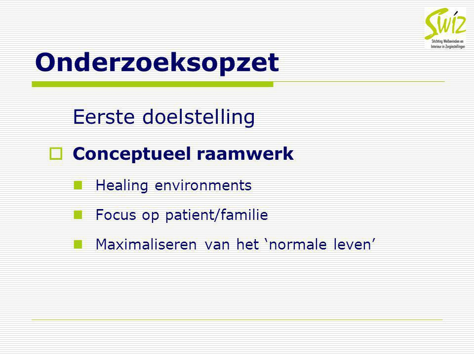 Onderzoeksopzet Eerste doelstelling Conceptueel raamwerk