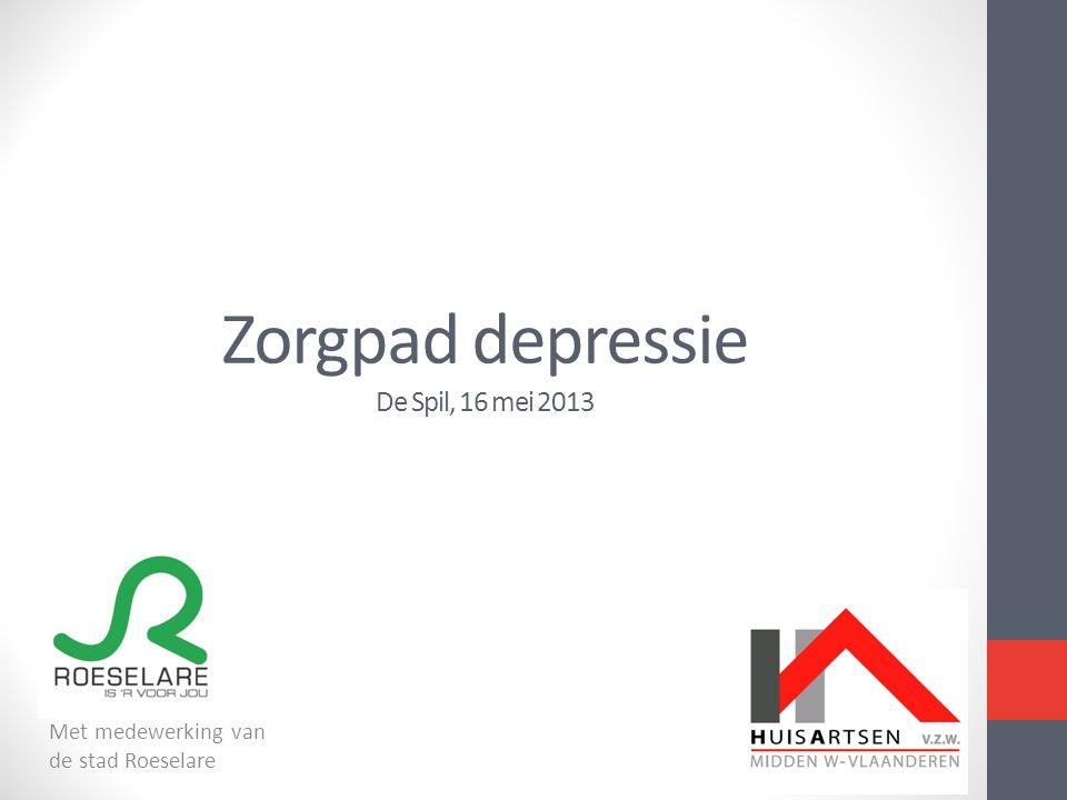 Zorgpad depressie De Spil, 16 mei 2013