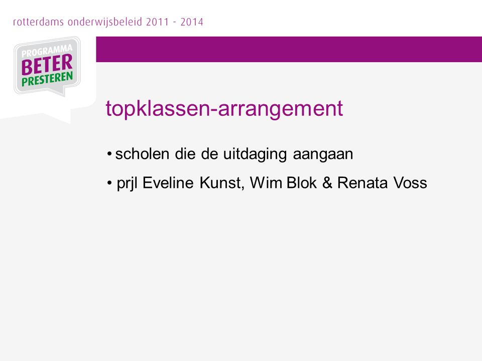 topklassen-arrangement