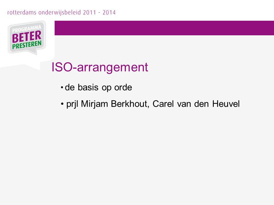 ISO-arrangement prjl Mirjam Berkhout, Carel van den Heuvel