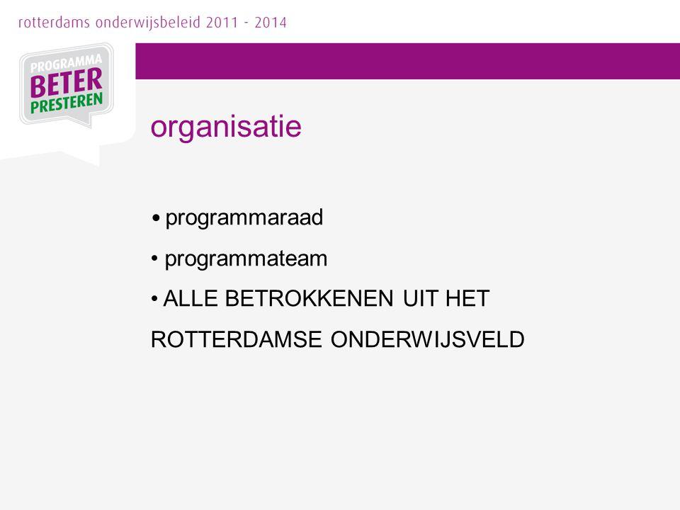 organisatie programmaraad programmateam