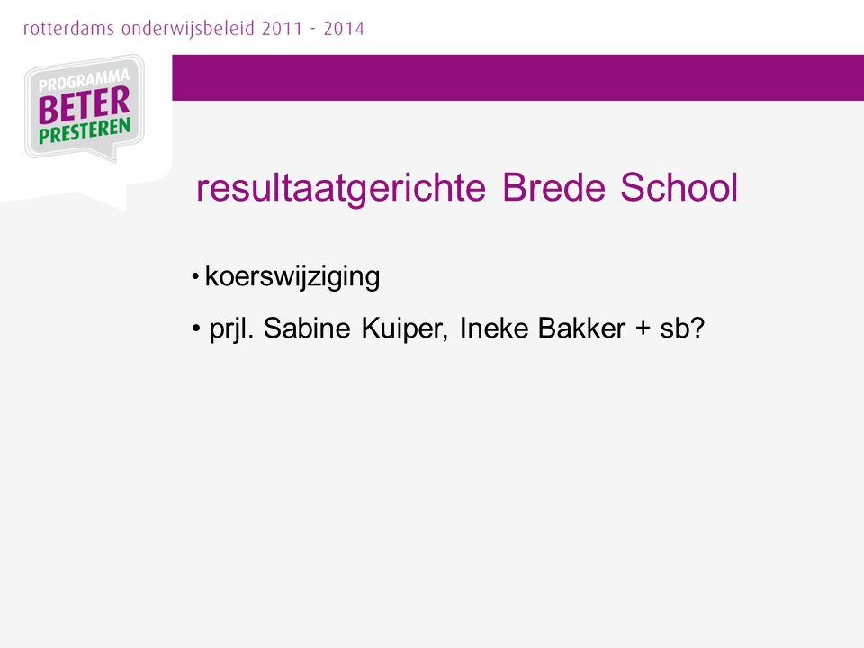 resultaatgerichte Brede School