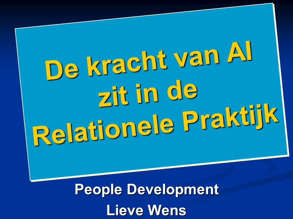 People Development Lieve Wens