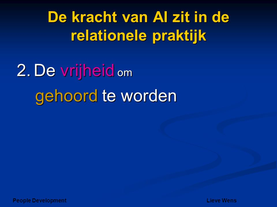 De kracht van AI zit in de relationele praktijk