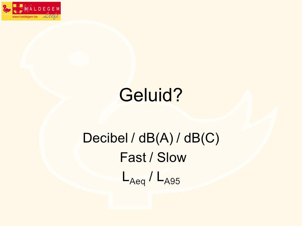 Decibel / dB(A) / dB(C) Fast / Slow LAeq / LA95