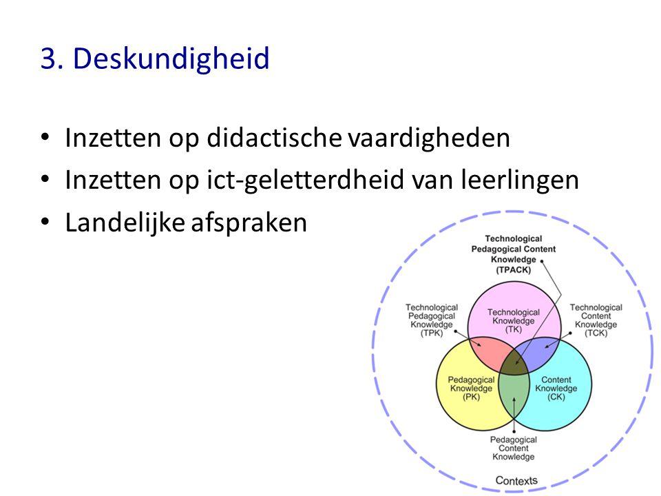 3. Deskundigheid Inzetten op didactische vaardigheden
