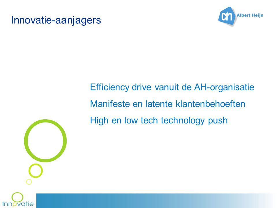 Innovatie-aanjagers Efficiency drive vanuit de AH-organisatie