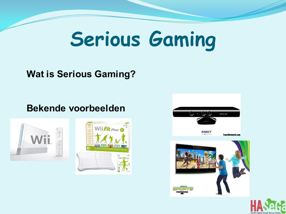 Serious Gaming Wat is Serious Gaming Bekende voorbeelden