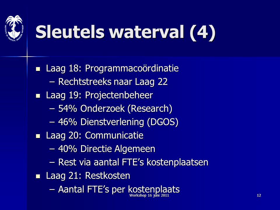 Sleutels waterval (4) Laag 18: Programmacoördinatie