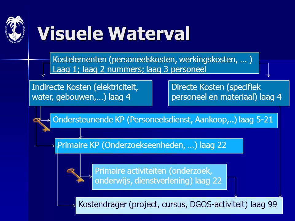 Visuele Waterval Kostelementen (personeelskosten, werkingskosten, … )