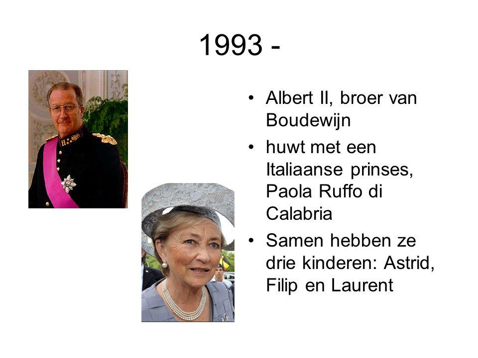 1993 - Albert II, broer van Boudewijn