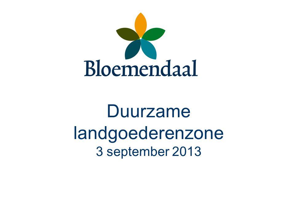Duurzame landgoederenzone 3 september 2013