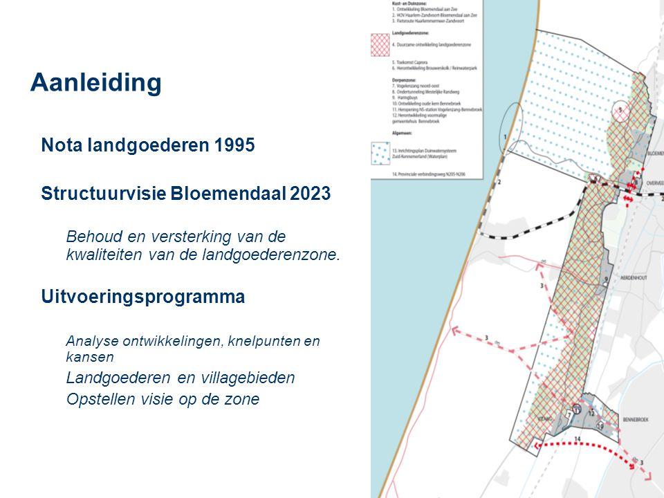 Aanleiding Nota landgoederen 1995 Structuurvisie Bloemendaal 2023
