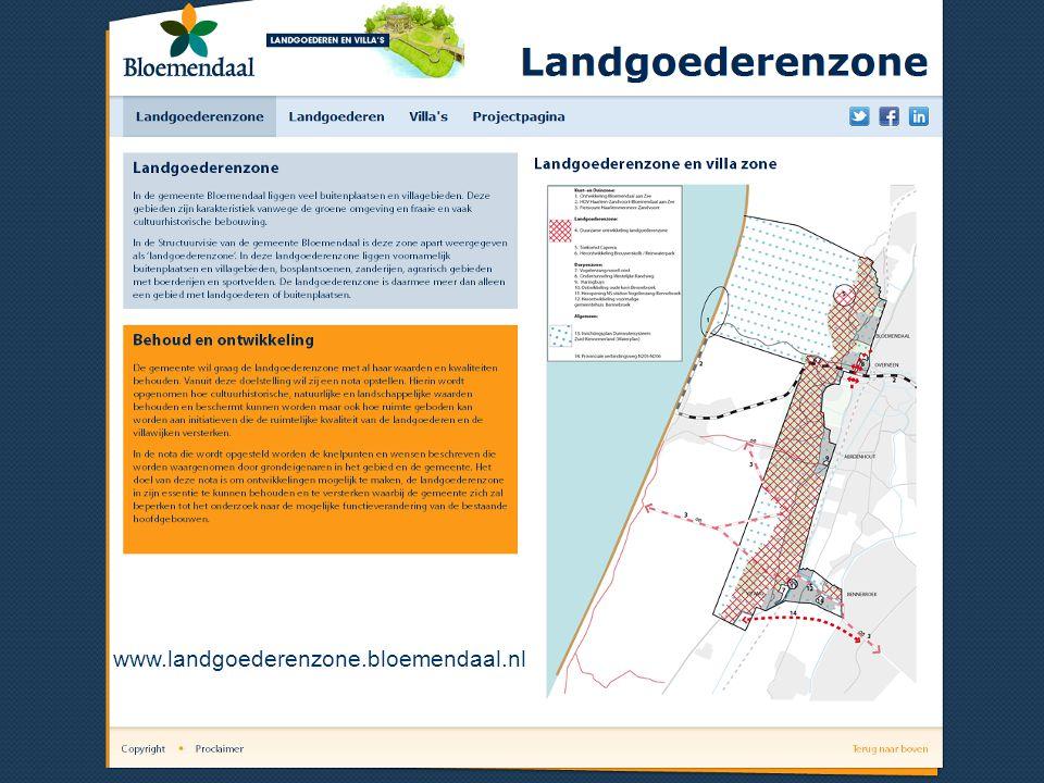 Preview website 1e pagina website www.landgoederenzone.bloemendaal.nl