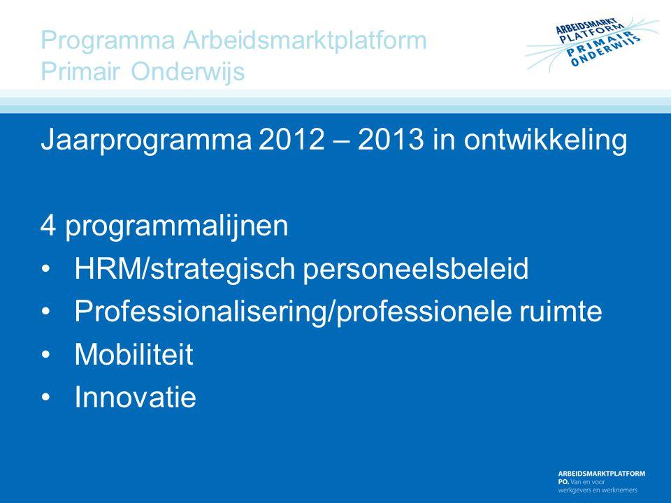 Programma Arbeidsmarktplatform Primair Onderwijs