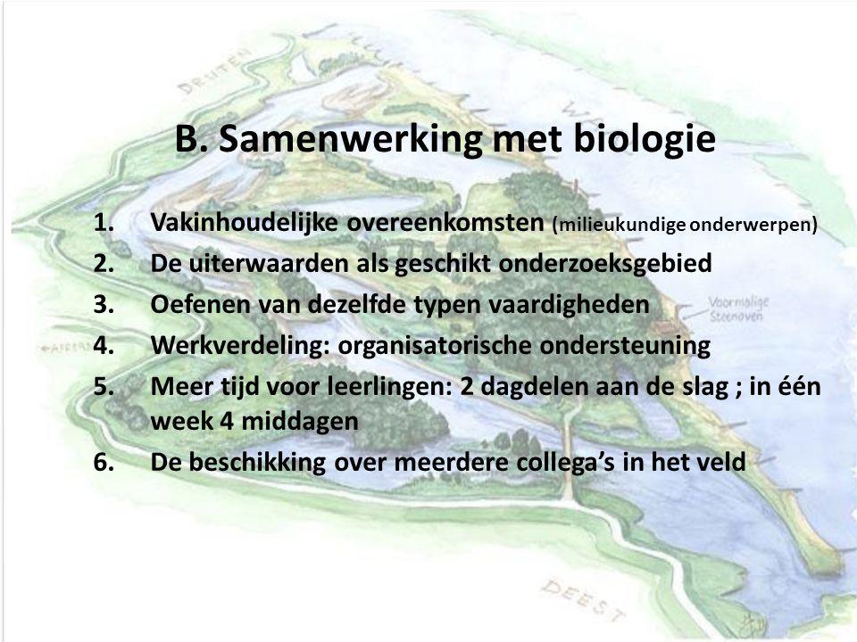 B. Samenwerking met biologie