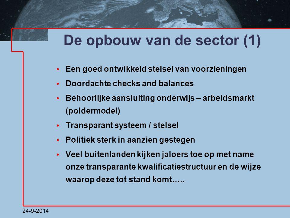 De opbouw van de sector (1)