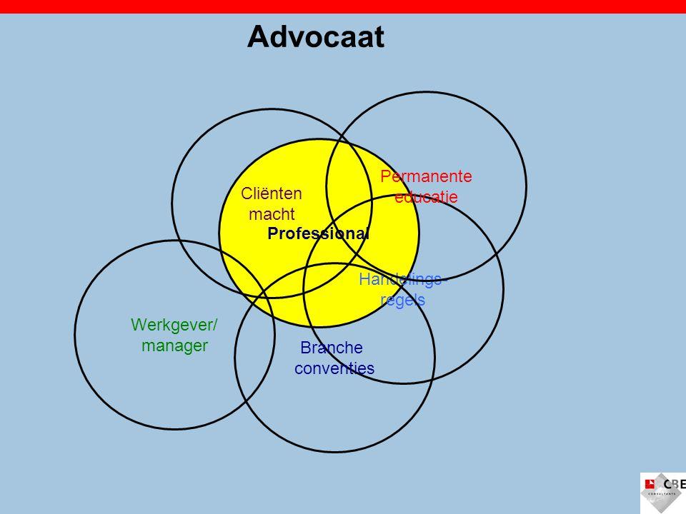 Advocaat Permanente educatie Cliënten macht Professional Handelings-