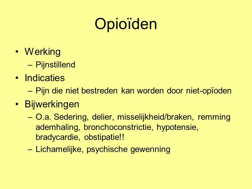 Opioïden Werking Indicaties Bijwerkingen Pijnstillend
