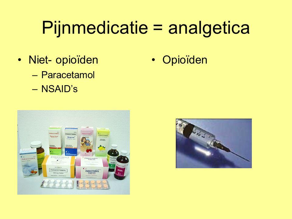 Pijnmedicatie = analgetica