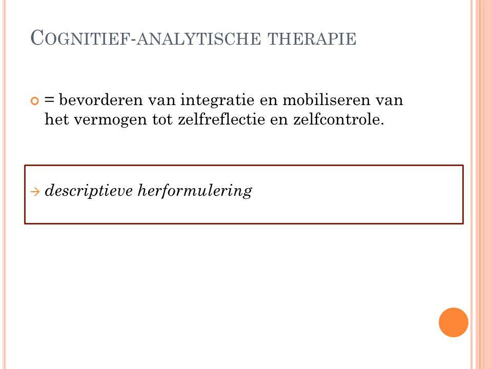 Cognitief-analytische therapie