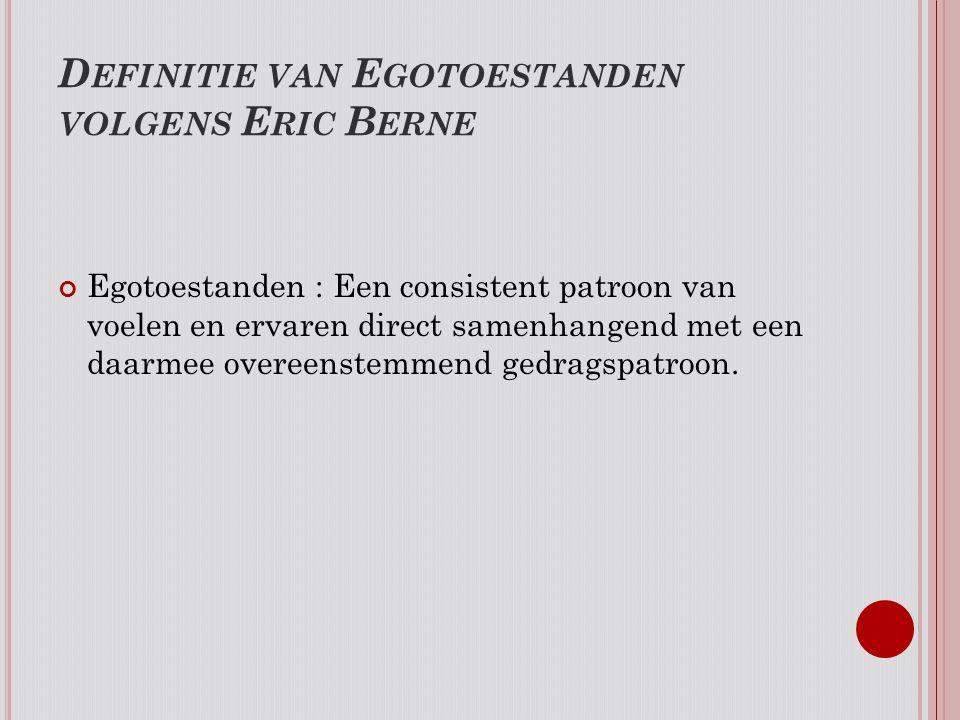 Definitie van Egotoestanden volgens Eric Berne