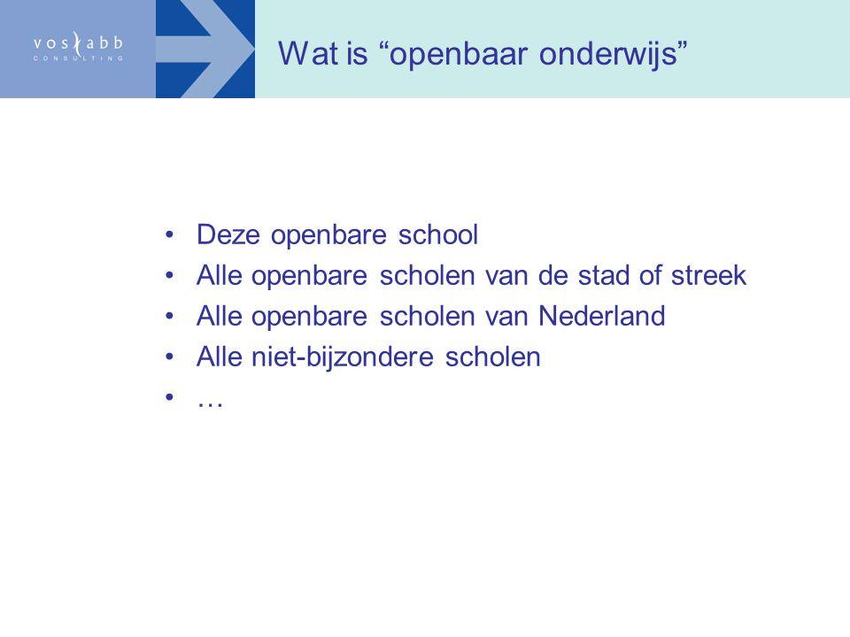 Wat is openbaar onderwijs