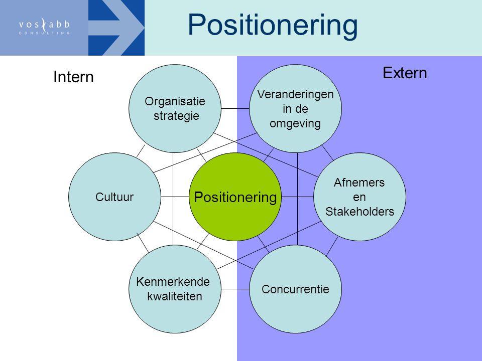 Positionering Extern Intern Positionering Organisatie strategie