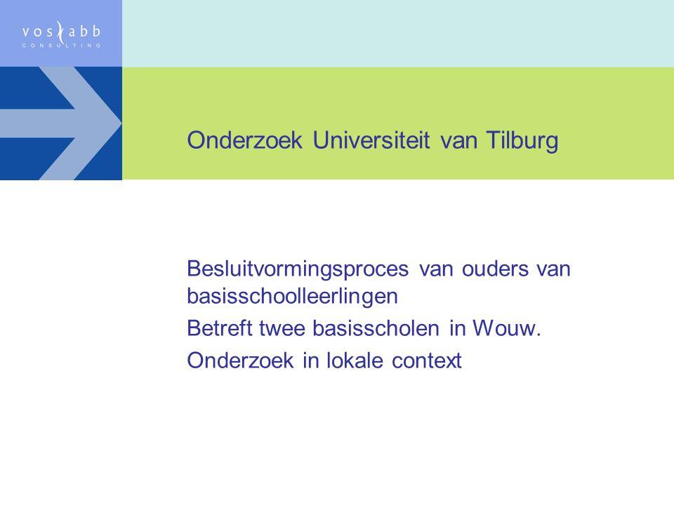 Onderzoek Universiteit van Tilburg