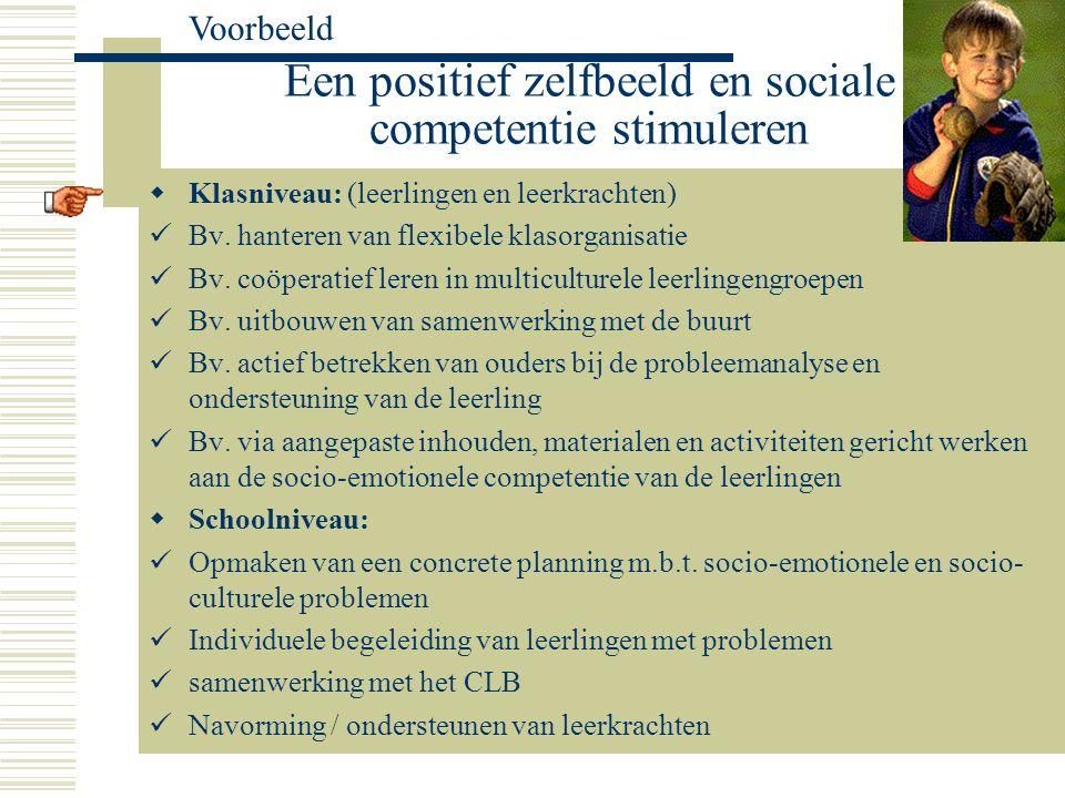 Een positief zelfbeeld en sociale competentie stimuleren